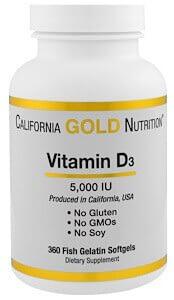 California Gold Nutrition Vitamin D3