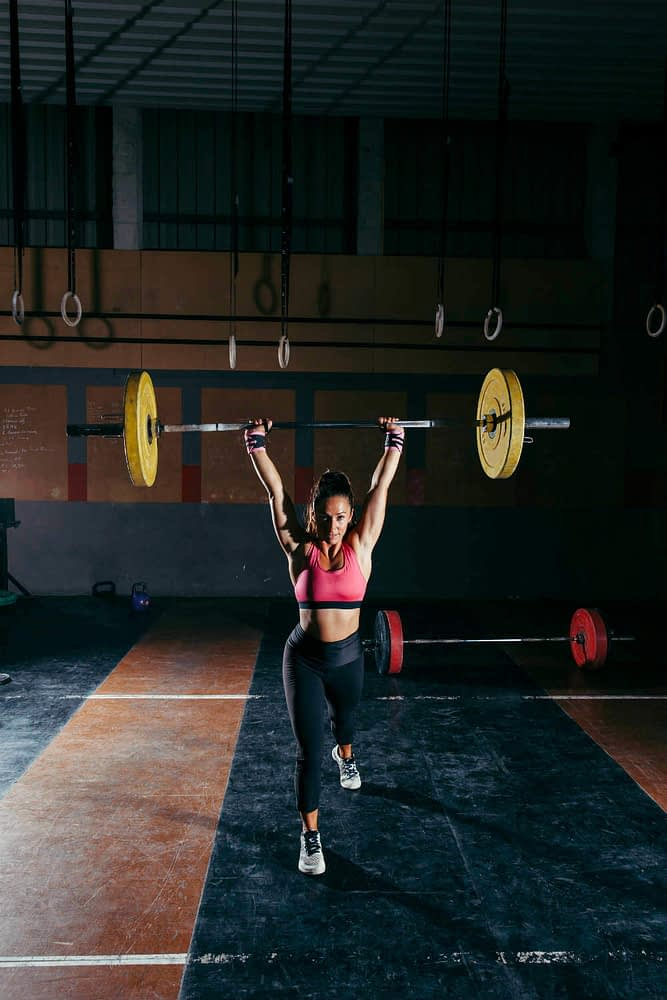 clean and jerk clean and press exercise